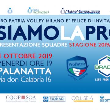 BRACCO Pro Patria Volley Presenta la Stagione 2019/2020
