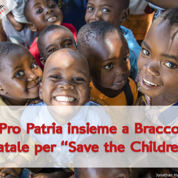 "Pro Patria insieme a BRACCO con ""Save The Children"""